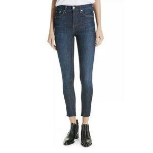 Rag & Bone High Rise skinny jeans dark denim